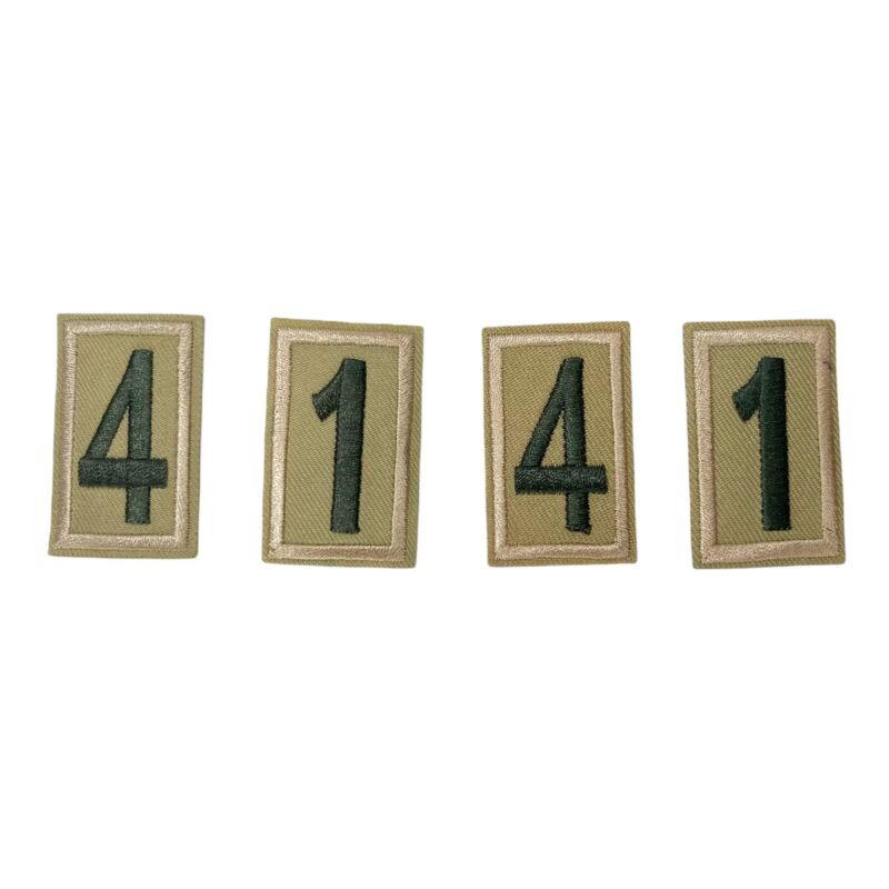 Boy Scout Troop Numbers Tan & Green Sleeve Patches 1 4