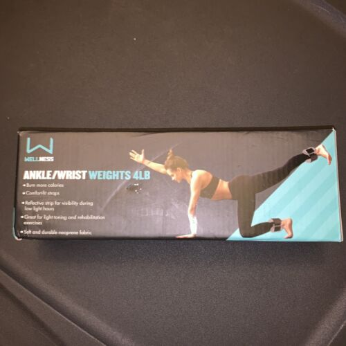 Wellness Ankle/Wrist Weights 4LB PINK SET Key Words Workout,