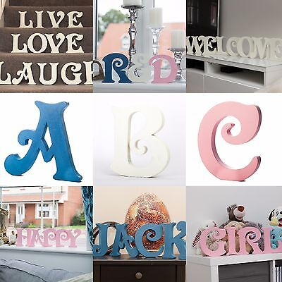 Wooden Letters Victorian Font Extra Large 6 inch 15 cm Free-standing A to Z Gift