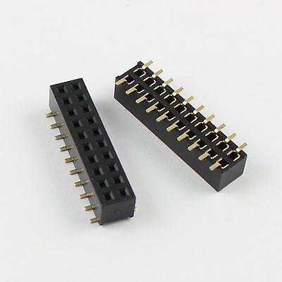 20pcs 2mm 2.0mm Pitch 2x10 Pin 20 Pin Female Dual Row Smt Smd Pin Header Strip