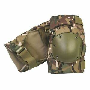 MTP Multicam Army Knee Pads - Heavy Duty Military Hard Shell Secure Fastening