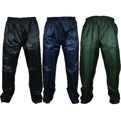 New Mens Womens Waterproof Over Trousers Rain Pants Motorcycle Fishing Hiking