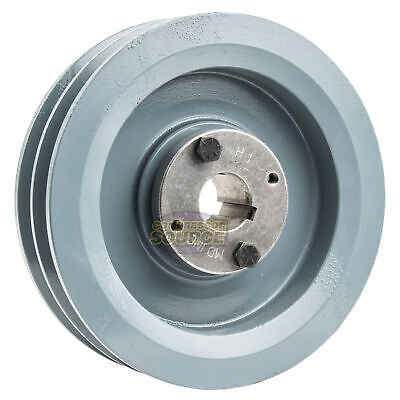 B Section Dual Groove 2 Piece 6.5 Pulley W 1 Sheave Shiv Cast Iron 5l V Belt