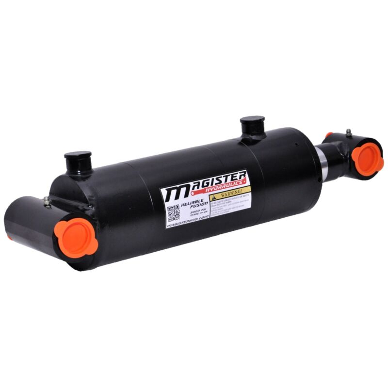 """Hydraulic Cylinder Welded Double Acting 5"""" Bore 30"""" Stroke Cross Tube 5x30 NEW"""