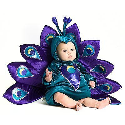 Baby Kostüm Pfau 80/86  lila süß Overall Karneval Fasching Tiere Mädchen 12-18 m