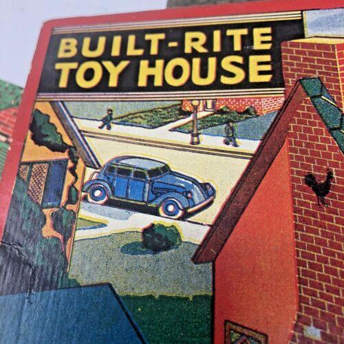 BUILT RITE TOY HOUSE #9 1930s-40s Dollhouse RARE