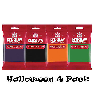 Renshaw Halloween Colours Pack Ready to Roll Sugarpaste Colour Cake Fondant