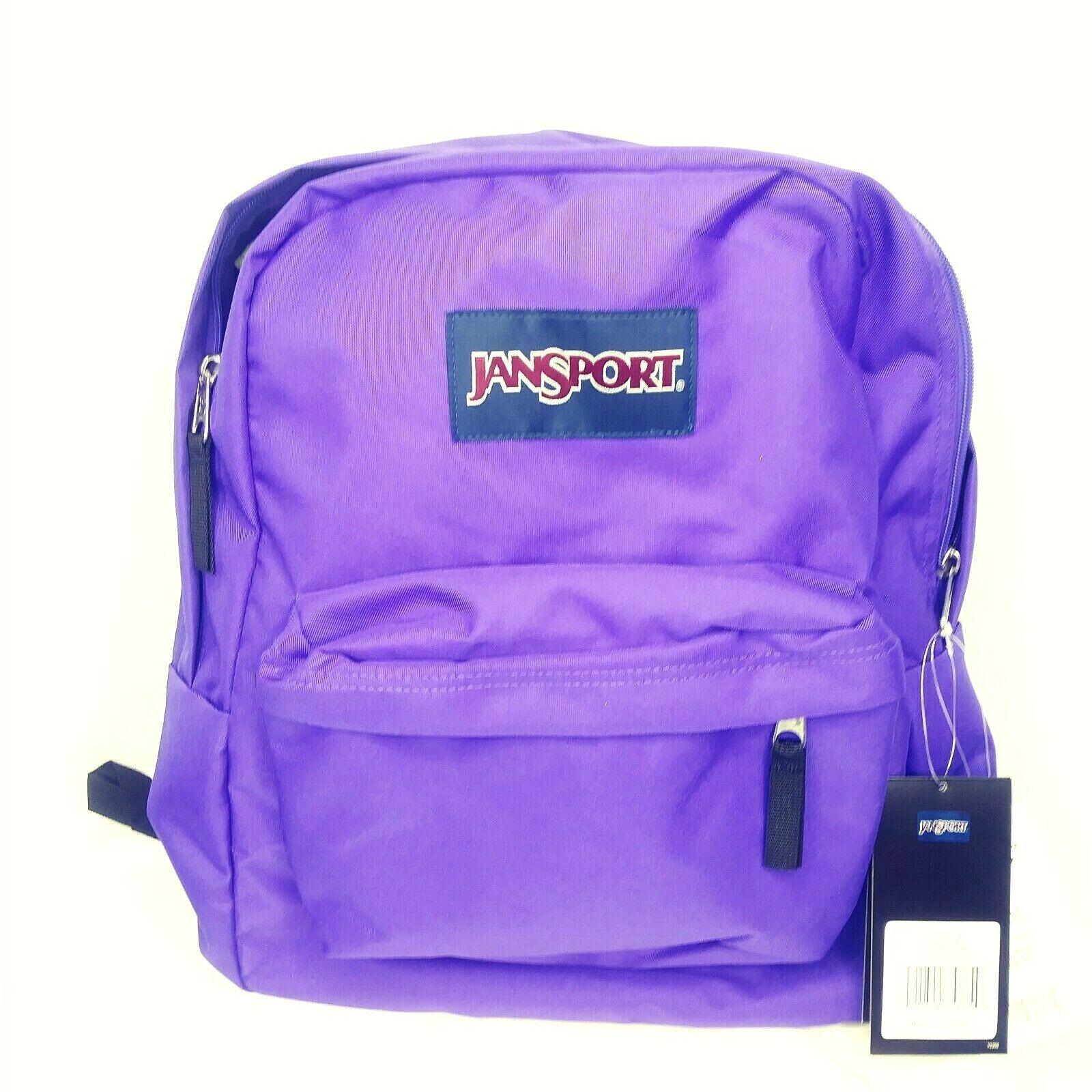 JanSport Superbreak Backpack Bookbag Insignia Purple with Bl