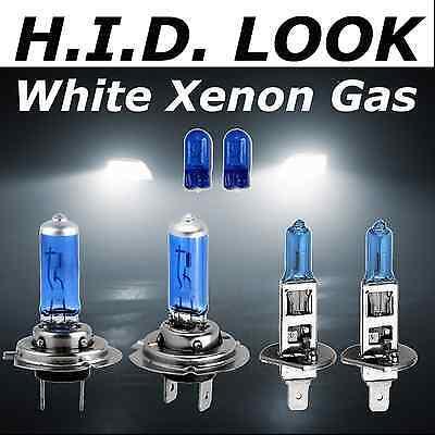 Xenon White Upgrade Headlight Bulbs Package 447 447 501 H7 H7 55W