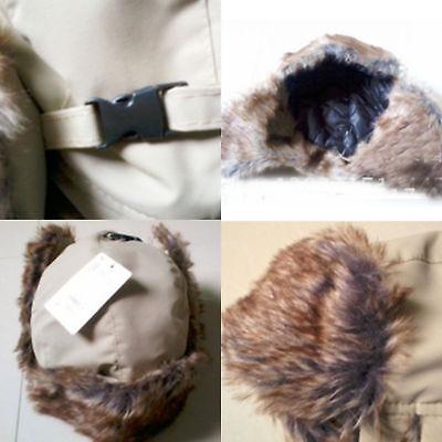Mens Aviator Trapper Hat Bomber Winter Russian Trooper Ear Flap Warm Fur Ski -