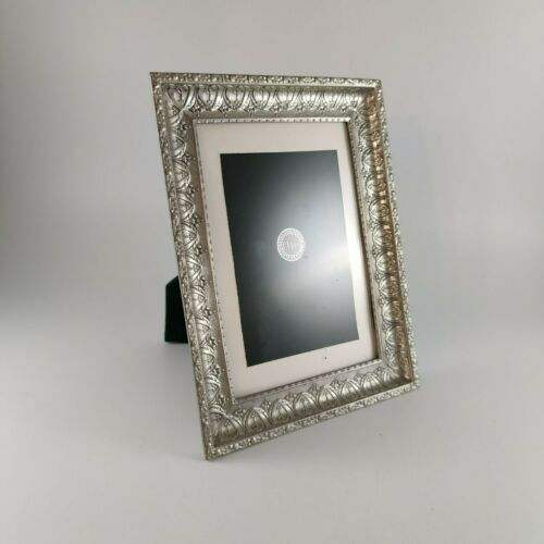 """Elias Extra Fine Pewter Contains Silver Picture Frame 4"""" x 6"""" #2417 ca. 1998"""