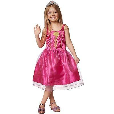 Mädchenkostüm Prinzessin pinke Rose Kleid Märchen Film Dornröschen Karneval - Dornröschen Kleid Kostüm
