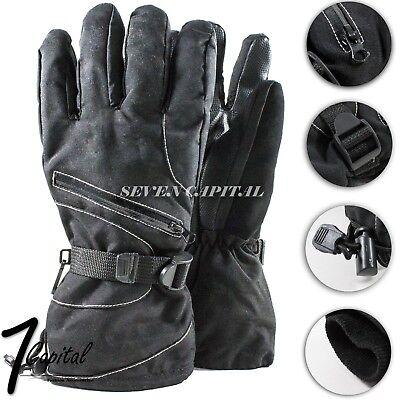 Mens Winter Oversized Adjustable Warm Ski Snowboarding Gloves Thermal Waterproof - Oversized Gloves