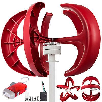 Turbina de Viento 600W 12V Linterna Aerogeneradores Generadores 5 Palas Vertical