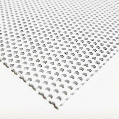 White Painted Aluminum Perforated Sheet 0.040 X 24 X 24 0.078 Hole