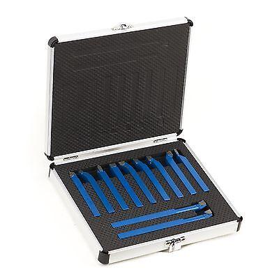 Drehstahl Satz 11-tlg 8x8 mm Drehmeißel Set im praktischer Alukoffer FT011008