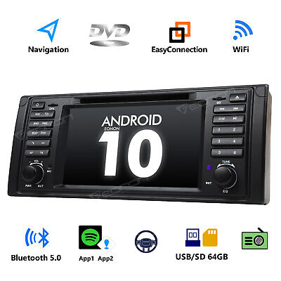 """Eonon Android 10 4-Core 7"""" GPS DVD Sat Nav Car Stereo DAB+ Radio for BMW E53 M5 for sale  Southall"""