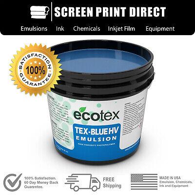 Ecotex Tex-blue Hv High Viscosity Textile Screen Printing Emulsion 1gal. 128 Oz