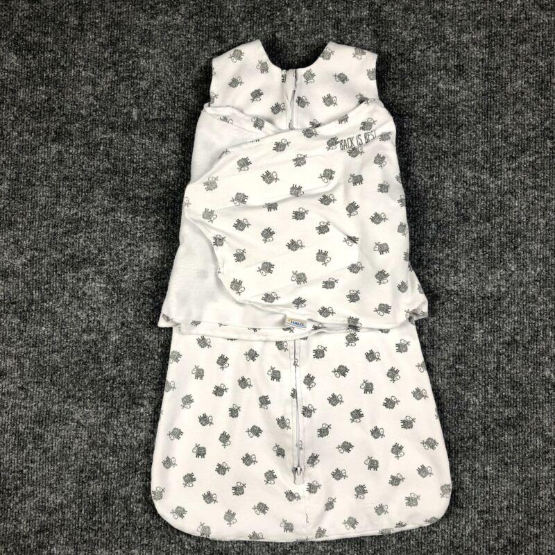 Halo SleepSack Swaddle Size Small 3-6 Months 13-18 Pounds Boy/Girl W/ Gray Sheep