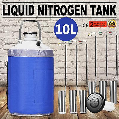10 L Liquid Nitrogen Cryogenic Dewar Container Tank Semen Tank Yds-10l