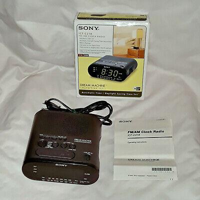 SONY Dream Machine ICF-C218 Black FM AM Radio Alarm Clock