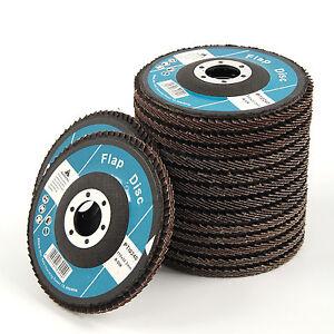 15pcs Flap Discs 115mm Sanding 40 60 80 Grit Grinding Wheels Discs 4.5