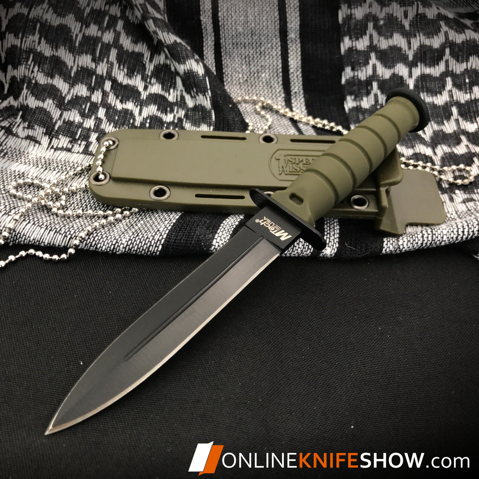 "6"" TACTICAL COMBAT SURVIVAL Army Spear HUNTING KNIFE Bowie M"