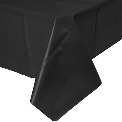 Durable Black Tablecloth For Birthday Parties, Halloween, Funerals & Events - Funeral Party Halloween