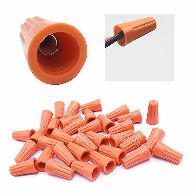 200 Pcs P2 Screw On-nuts Standard Type Twist On Barrel Wire Connector Us Stock