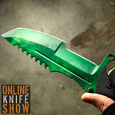 Gamma Huntsman Tactical Combat Knife Survival Hunting Bowie Fixed Blade   Sheath