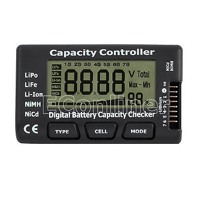 Battery Capacity Meter Tester Checker Controller for LiPo LiFe Li-ion NiMH Nicd