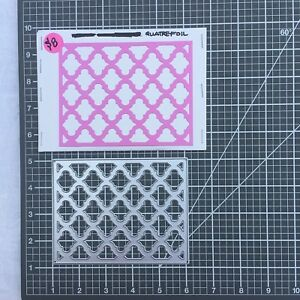 Quatrefoil A2 size cover die for card making or scrapbooking