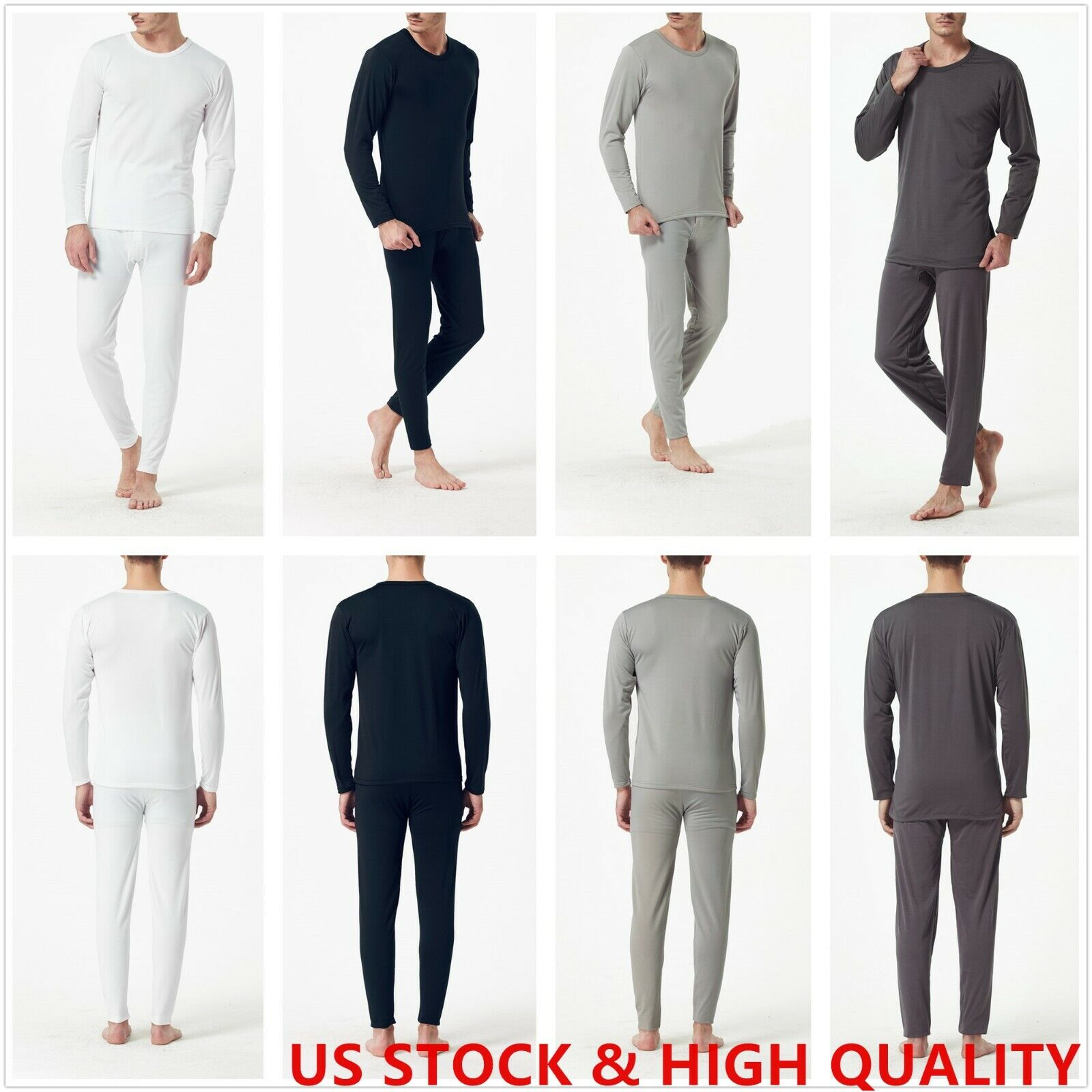 Phoeron Men's Thermal Underwear Set Top & Bottom Long Johns