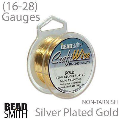 Gold BeadSmith Craft Wire 16, 18, 20, 22, 24 ,26, 28 Gauge S