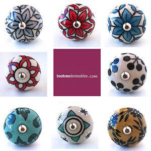 bouton de placard poign e porte tiroir c ramique porcelaine artisan 3 8 cm knob ebay. Black Bedroom Furniture Sets. Home Design Ideas