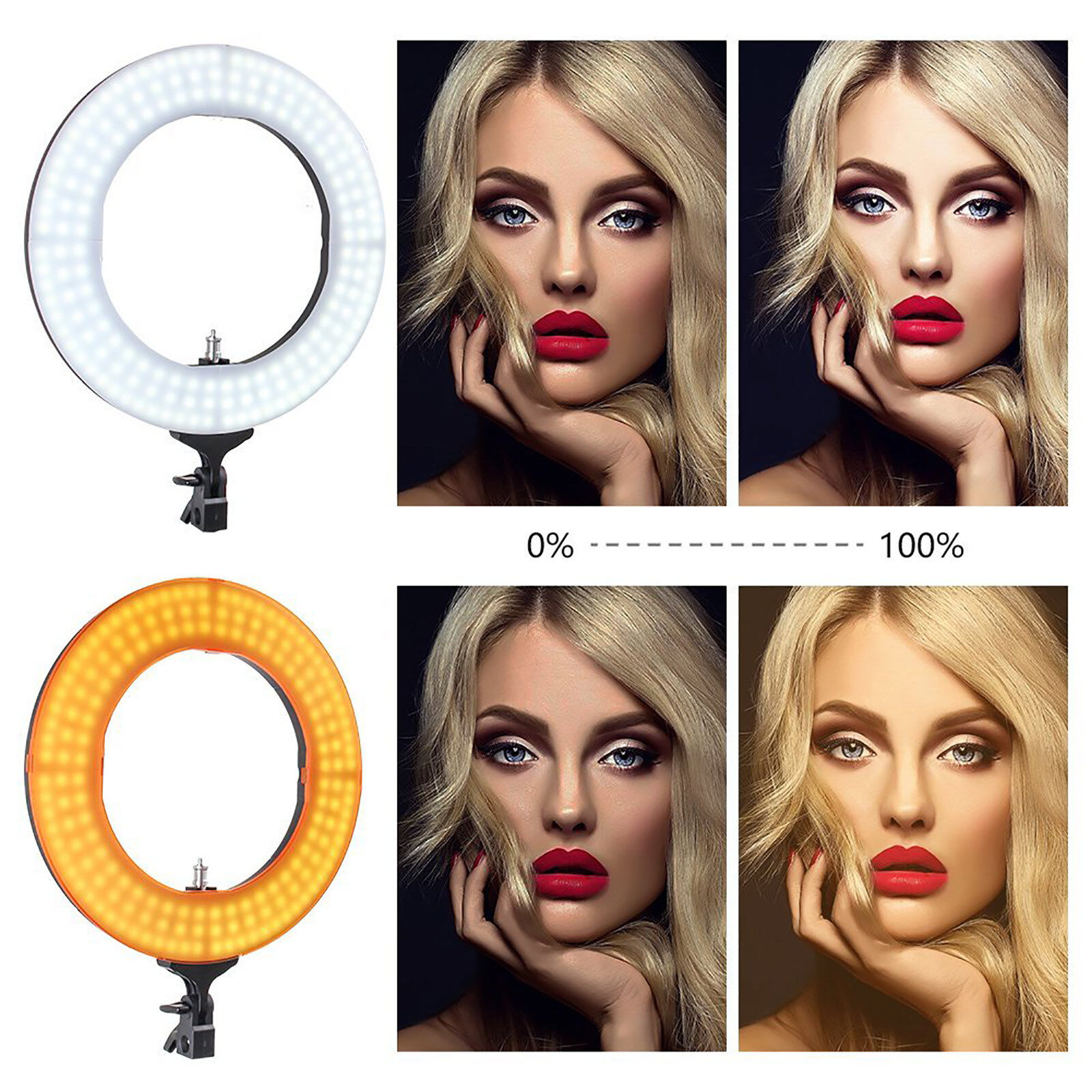 LED Ring Light with Stand 5500K Dimmable LED Lighting Kit Makeup Youtube Live