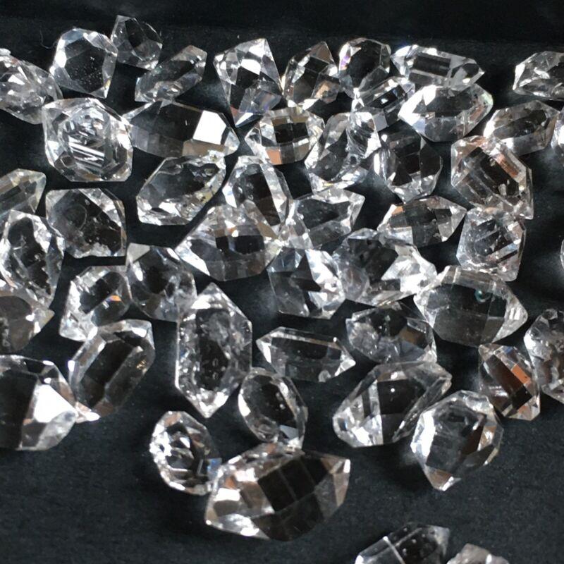 12 Pcs Herkimer diamonds crystals 6 to 8 mm