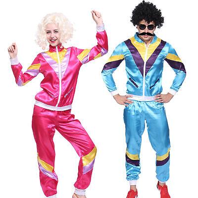 Retro Dance Costumes (Easter Lover Tracksuit Scouser Shell Retro Dance Disco Hippie Fancy)