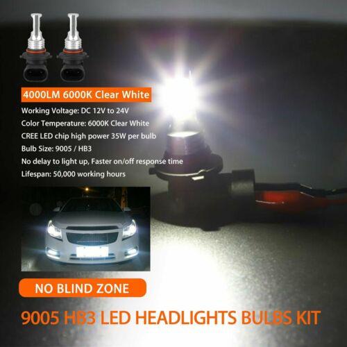 как выглядит 2X 9005 HB3 LED Headlight kit HB3 80W 8000LM High Low Beam 6000K White Bulb HID фото