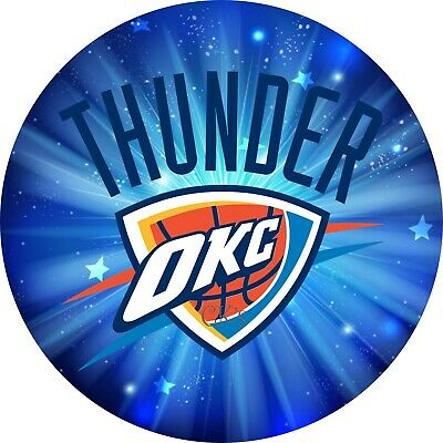 Party Supplies Okc (Oklahoma City THUNDER OKC 7 Inch Edible Image Cake / Cupcake Toppers)