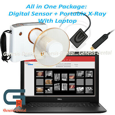 Portable Dental Handheld X-ray Digital Sensor 15 Laptop With Software
