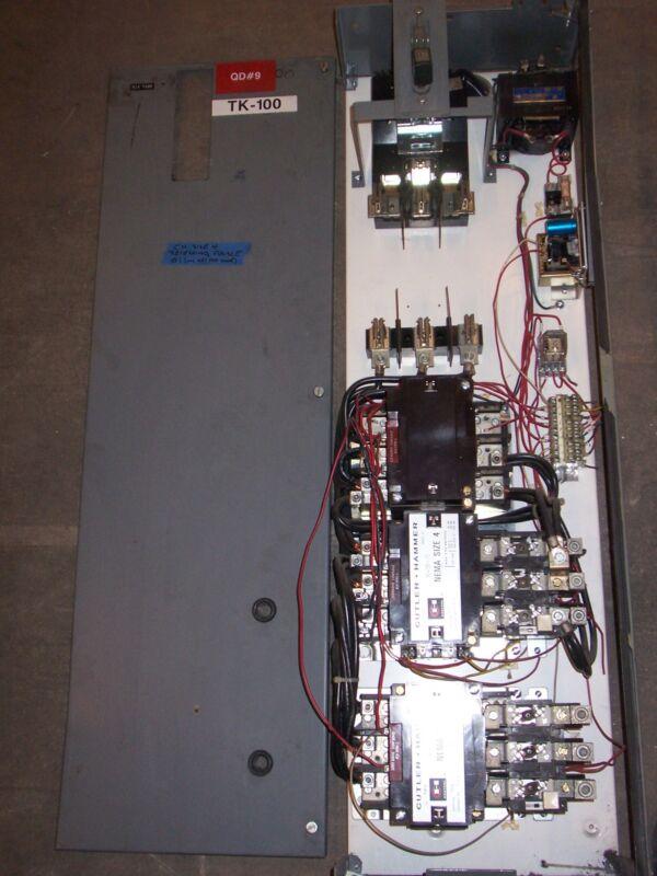 CUTLER HAMMER UNITROL F10 SIZE 4 REVERSING STARTER 2 SPEED 150 AMP BUCKET #3
