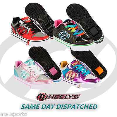 NEW HEELYS MOTION PLUS UNISEX BOYS GIRLS CHILD ROLLER SKATE TRAINERS UK SIZE