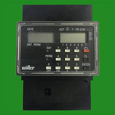Muller Sc 28.21 Din Rail Wall Mount Digital Timer 16a 250v Yearly Programmable