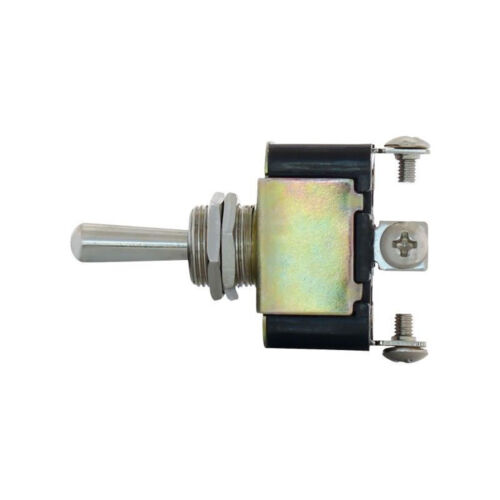 3 Pin On Off Metal Toggle Switch 10 Amp - 12 Volts D.C. DC w/ 3 Screw Terminals