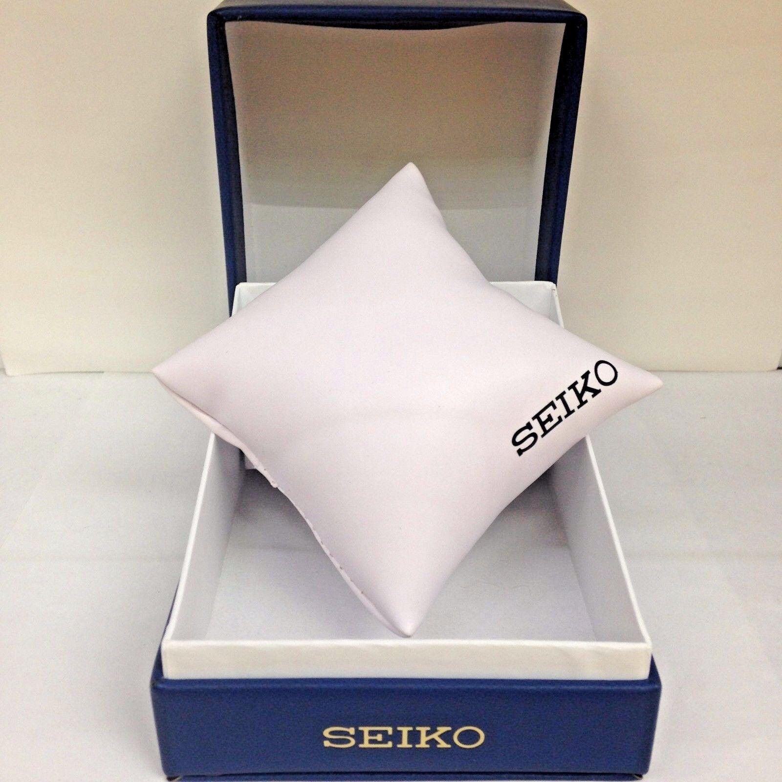 New SEIKO Blue PU Watch Box Presentation Storage Case with m