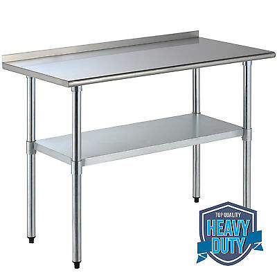 24 X 48 Stainless Steel Work Prep Table Wbacksplash Kitchen Restaurant