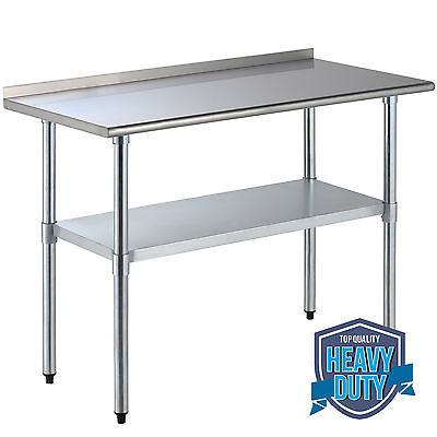 24 X 48 Stainless Steel Work Prep Table Food Wbacksplash Restaurant Kitchen