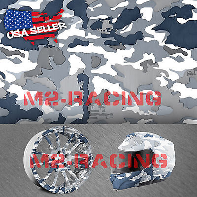 19x78 Hydrographic Film Hydro Dipping Water Transfer Snow Camo Camouflage 8