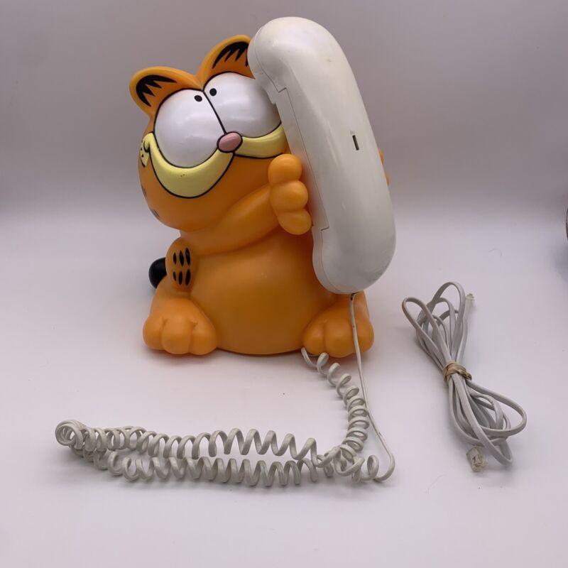 Untested Vintage Garfield Corded Phone Tyco Comic Cartoon
